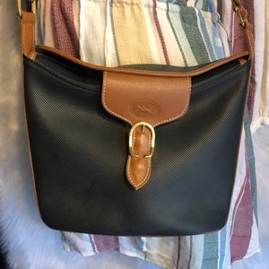 Longchamp Vintage Vinyl & Leather Crossbody Bag